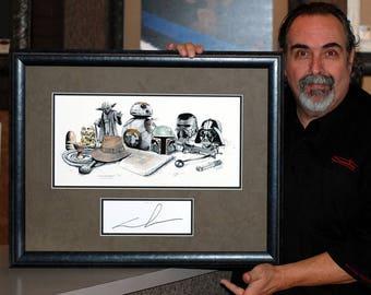 Star Wars, Original Autograph, George Lucas, BB-8, Boba Fett, Indian Jones,  Suchiu