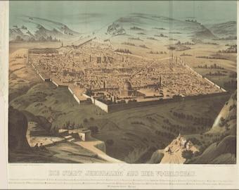Poster, Many Sizes Available; Jerusalem Israel 1868