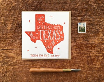 Texas greeting card etsy texas greeting card greetings from texas folded note card blank inside bookmarktalkfo Gallery