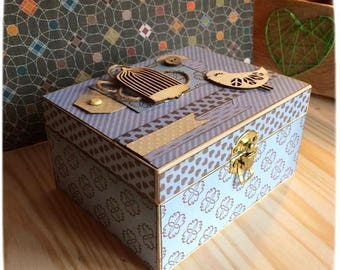 Mirrored wooden jewelry box