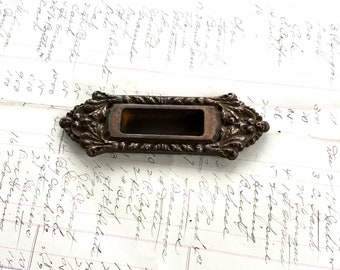 Chatham Hardware Cast Copper Bin Drawer Pulls Pocket Door Handle Antique