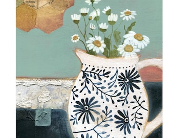 Found and Forever, Daisy Jug Print