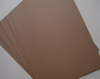Brown Kraft Cardstock - 10 sheets