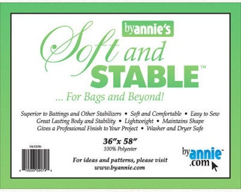 """Soft and Stable - 36"""" x 58"""" - SS2036 - Patterns by Annie - Interfacing for Bags and Beyond! (Stabilizer)"""