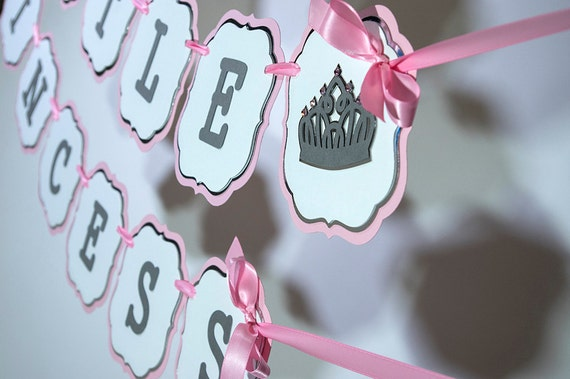 Little Princess Theme Baby Shower Banner.