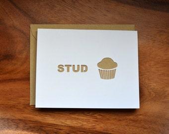 Die-Cut Stud Muffin Card