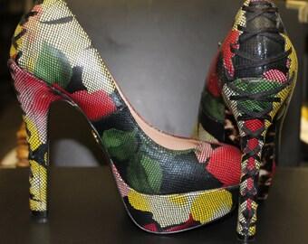 Betsey Johnson High Heels 5 1/2 / Betsey Johnson Leather Shoes 5 1/2 / Betsey Johnson Wedges 5 1/2