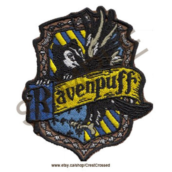 Ravenpuff Cross House Crest Patch by Etsy