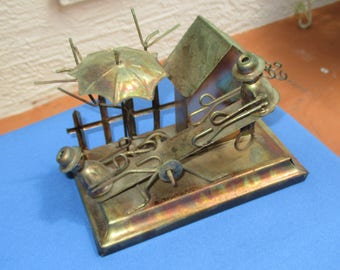Vintage Seesaw Copper Music Box