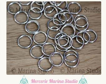 Set rings 10mm stainless steel - jump rings