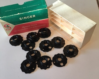 Vintage Singer Special Discs, Singer sewing machine cams, class 600 and 603 machines, sewing room decor, fancy stitch cam, sewing supply