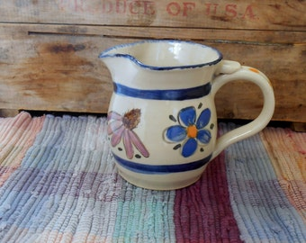 Wildflowers handmade pottery small pitcher - 15 oz - ceramic creamer - pottery jug - utensil holder - tallpinespottery - cfl2618
