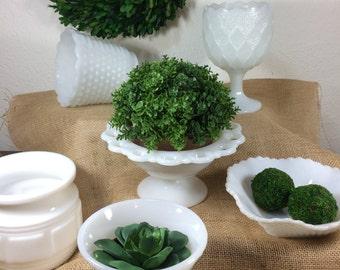 White Milk Glass *FREE SHIPPING* Vintage Milk Glass Planters, Vase, Urn, Dish, Plate