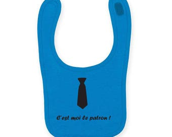 """Personalized baby bib """"you're the boss"""""""