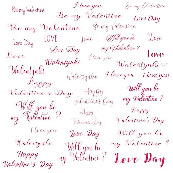 Valentine Word Overlay - Valentine frames - Text Overlay ...