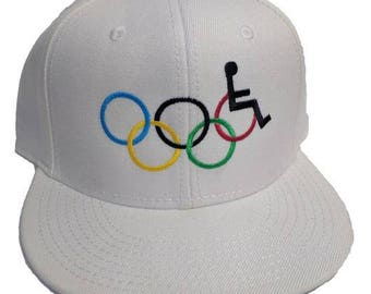 Special Olympics White 6-Panel Flat Bill Hat