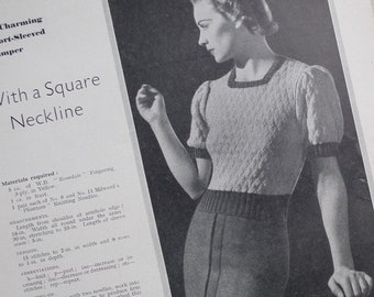 Vintage 1930s Needlecrafts Magazine - The Needlewoman May 1938 - vintage sewing book - knitting patterns Irish crochet 30s lingerie fashions