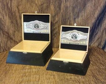 Vintage Wooden Camacho Cigar Boxes, free shipping