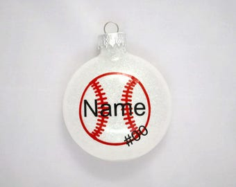 Baseball Christmas Ornament - Personalized Baseball Ornament - Baseball Player Gift - Baseball Coach Gift - Baseball Ornament - Baseball