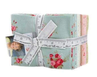 Caroline Fat Quarter Bundle - Moda Fabric - Brenda Riddle Fabric Small Scale Fabric Quilt Fabric Collection of 31 Fabrics 18650AB