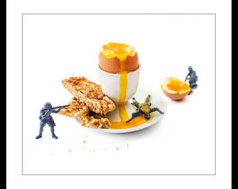 Wall Print - Kitchen art photography - Egg & Soldiers - Original fine art by Cath Lowe