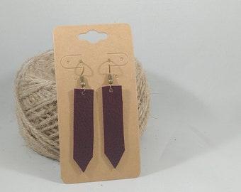 Handmade Leather Earrings - Medium - Repurposed Materials