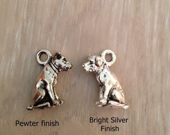 One Pit Bull Labrador Dog Charm.  Two Sided, Rottweiler Bull Terrier. American Pit Bull