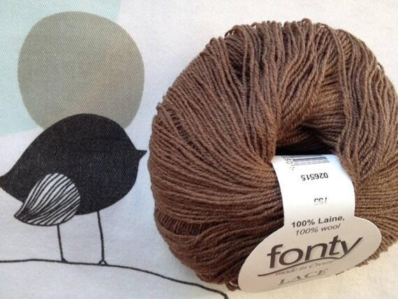 WOOL LACE Brown Beaver - FONTY