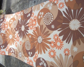 Funky Flower Power RETRO original 1960's/70's wallpaper