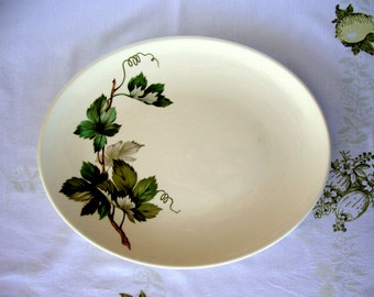Vintage Knowles China Grapevine large oval serving platter