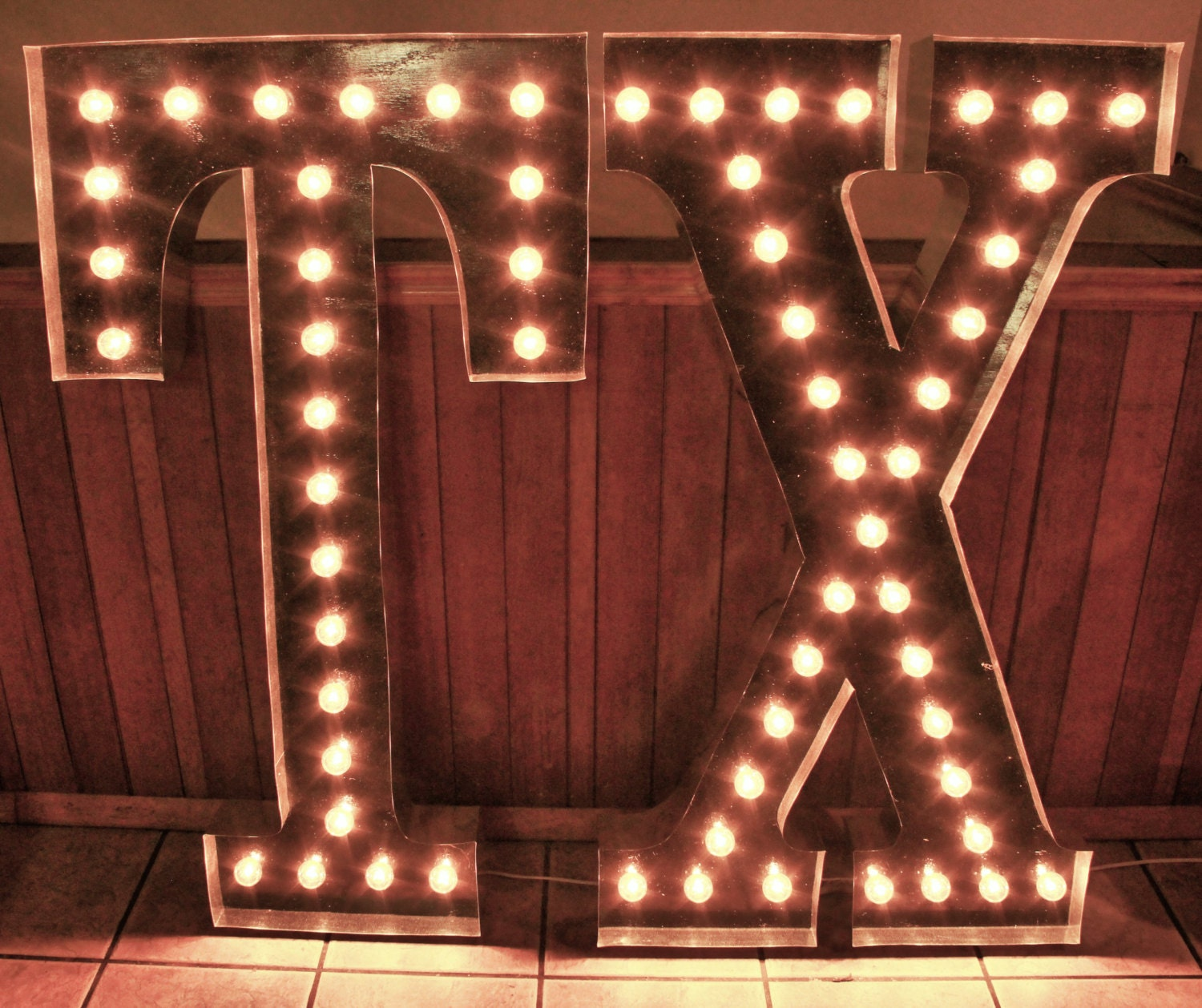 Light Up Letters For Wall Amusing Large 48 Tx Light Up Letter Sign Custom State Initials Design Ideas