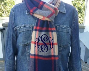 Winter Scarf with monogram - Personalized Scarf - monogram scarf - Free Shipping