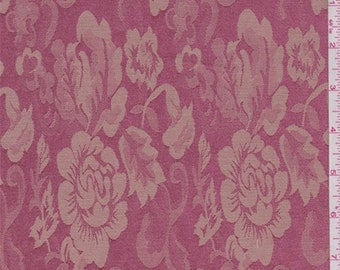Rose Pink/Tea Brown Floral Damask, Fabric By The Yard