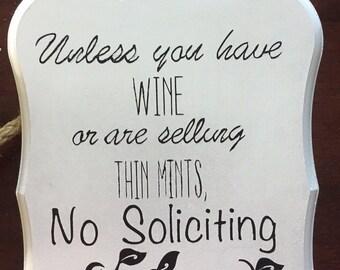 Small No Soliciting sign