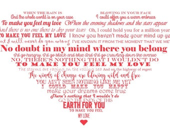 Song Lyrics Wall Art, Song Lyrics in a Heart, First Dance Song, Wedding Song On Canvas, Subway Art Heart Lyrics, First Anniversary Gift