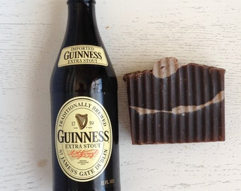 Fathers Day - Decadent Dark Beer Soap - Guinness BEER SOAP - gift for him - Dad - stocking stuffer - Handmade Soap - Vegan - Cold Process -
