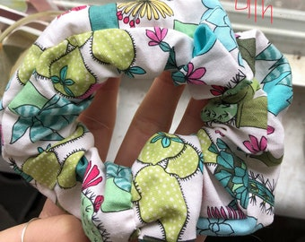 Cactus and Succulent Scrunchie