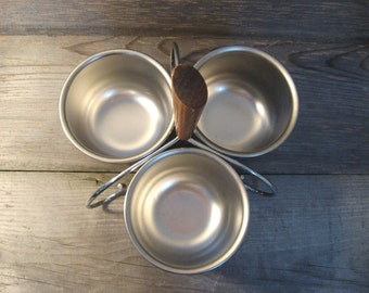 Condiment Serving Tray / Mid Century Condiment / Danish Serving