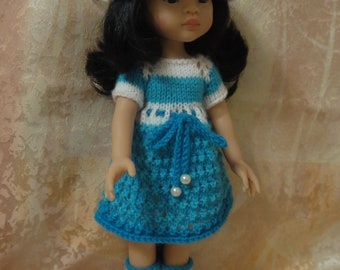 Dress, Hat, Вoots for doll Paola Reina 32 cm and similar dolls