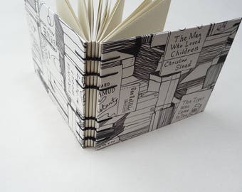 Small journal, notebook, bookworm, literature, coptic, recycled