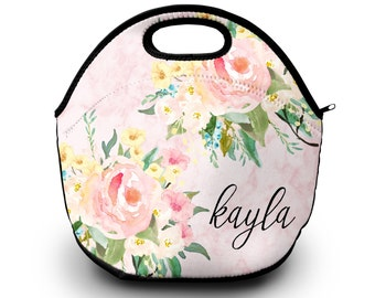 Monogrammed Lunch Tote , Monogram Lunch Bag,  Monogrammed Lunchbox, Monogrammed Gift |  Lunch Bag for Women