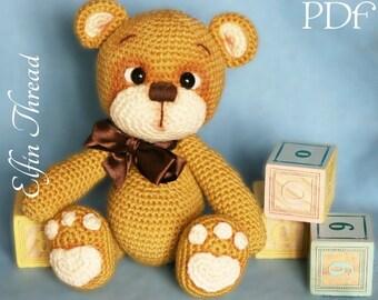 Elfin Thread - Teddy Bear Amigurumi PDF Pattern ( Bear crochet PDF pattern)