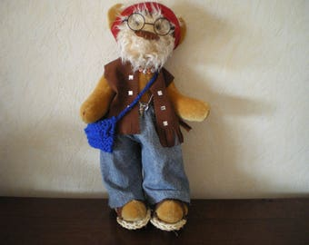 Collectible bears articulated lennon hippie
