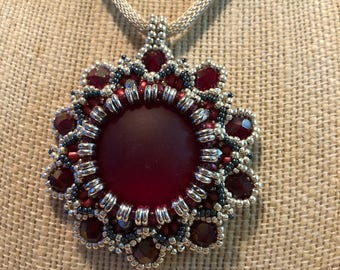 Lunasoft pendant necklace in ruby