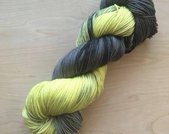 Hufflepuff house superwash merino sock yarn