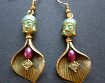 Buddha earrings.