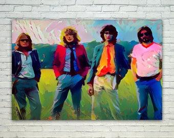 Led Zeppelin - Led Zeppelin Poster,Led Zeppelin West Art,Led Zeppelin Print,Led Zeppelin Poster,Led Zeppelin Merch,Led Zeppelin Wall Art