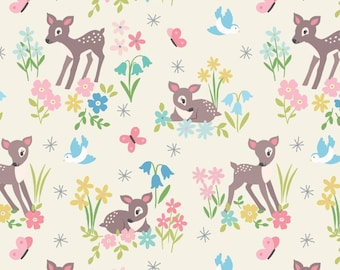 Sew Darling! -  A286.1 - Little Deer on Cream - from Lewis & Irene