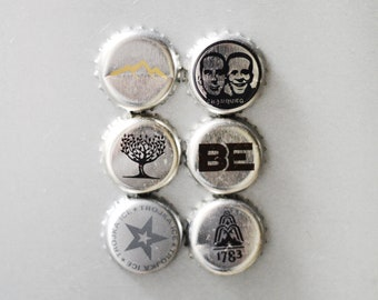 Silver Caps Magnets
