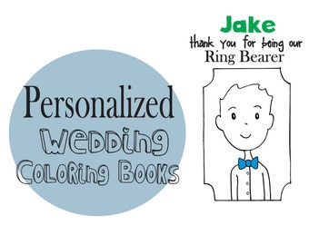 Kids Wedding Favor - Wedding Coloring Book - Ring Bearer Activity book for BOYS! - Kids Favor - #weddingcoloringbook - Ring Bearer Gift